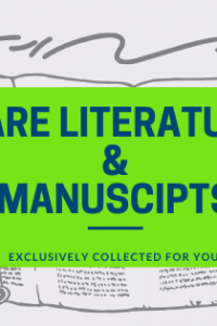 Rare Literature and Manuscripts